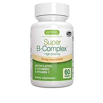 Super B-Complex – Methylated Sustained Release B Complex & Vitamin C Folate & Methylcobalamin Vegan 60 Small Tablets