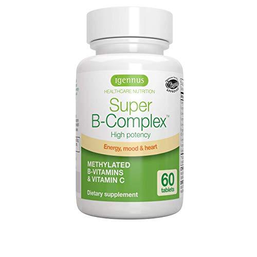 Super B-Complex - Vitamine B ad alta resistenza con folato, B6 & B12 più vitamina C, 60 compresse