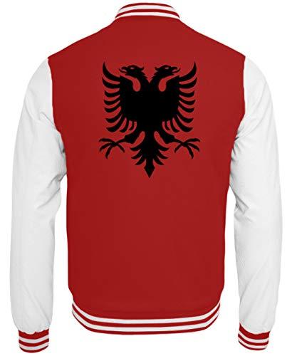 Albanien Adler Flagge Fahne Nationalflagge Fußball - Schlichtes Und Witziges Design - College Sweatjacke