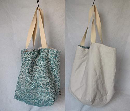 Shopper, Strandtasche, Einkaufstasche, groß, hobo Bag, zum Wenden, Wendetasche