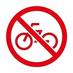 自転車 走行 駐輪 禁止 シール ステッカー カッティングステッカー 光沢タイプ・防水 耐水・屋外耐候3~4年【クリックポストにて発送】 (赤, 200)
