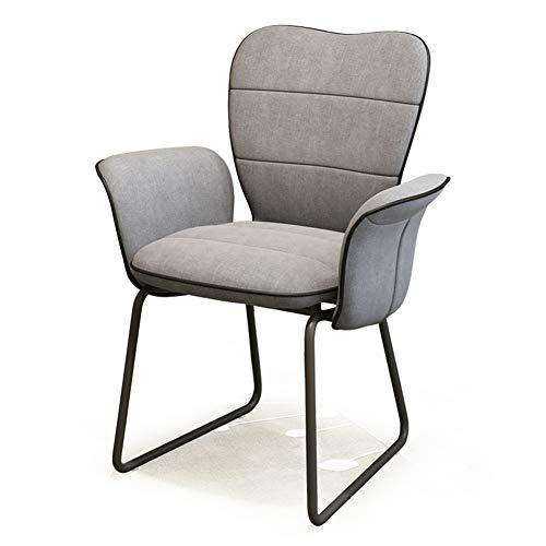 YQQ-Faules Sofa Velvet Chair Essensstuhl Küchentheke Stuhl Computerstuhl Flanell Arbeitsstuhl Kaffeestuhl Kissen Sessel Hotelstuhl Stuhl Grau (Color : A)