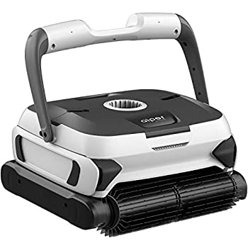 AIPER SMART Automatic Robotic Pool Cleaner with Powerful Dual-motors Large Top Load Cartridge Filter Tangle-Free Swivel Cord&Wall Climbing Ideal for In-Ground/Above Ground Pools Up To 50 Feet