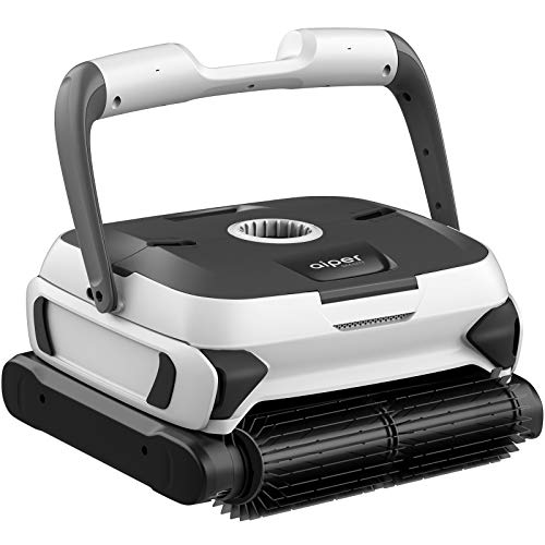 AIPER SMART Automatic Robotic Pool Cleaner with Powerful Dual-Motors, Large Top Load Cartridge Filter, Tangle-Free Swivel Cord&Wall Climbing, Ideal for In-Ground/Above Ground Pools Up to 50 Feet