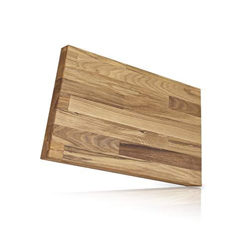 Behrwerk XL Massivholz Schneidebrett und Küchenbrett aus Holz massiv Eiche - Perfekte Schneideunterlage für die Küche I Groß 30 x 40 I Perfekt als Kochbrett, Brot und Küchenbrett