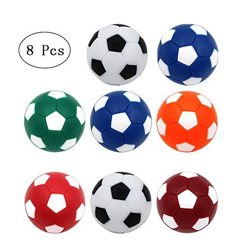 8 Piezas Pelotas de Futbolín, Reemplazos Del Juego de Futbolín, Bolas de Repuesto para Futbolines, Adecuado para Decoración de Cumpleaños de Fútbol, Premios en el Aula, Actividades de Fiesta, Etc