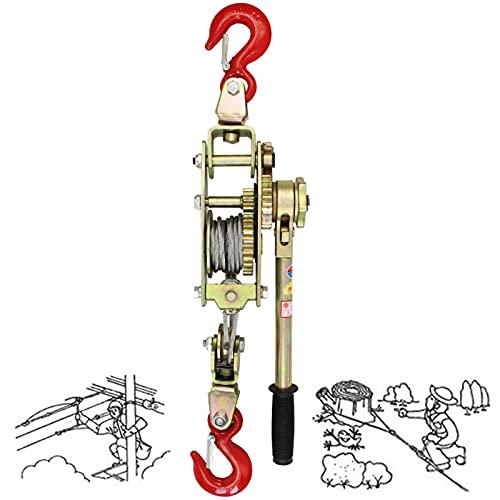 FZYE Cabrestante Manual con Engranajes, cabrestante Extractor de trinquete de Cable, Transporte...