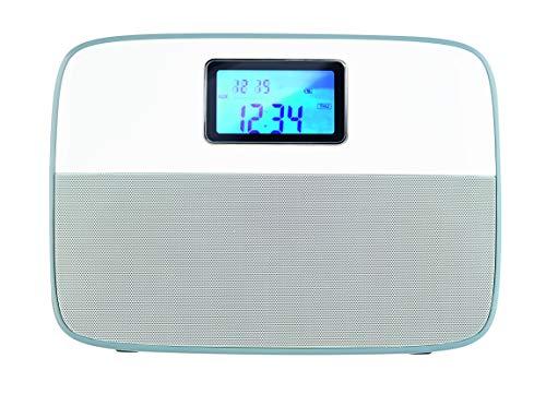 ECG R 300 U WHITE draagbare radio met USB - SD-kaart; MP3; FM-tuner met digitale afstemming; AUX-ingang; wekker met 2 wektijden; LCD-display; Selecteerbare displayhelderheid wit