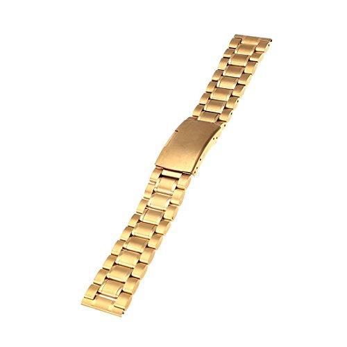 Edelstahl Metall Gurt Bügel Uhrenarmband Gerade Ende Neu Gold