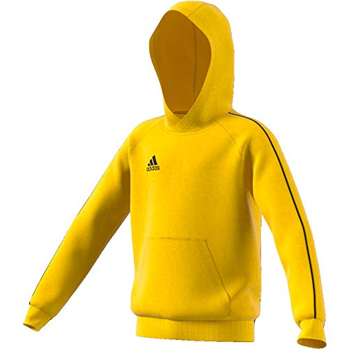 adidas Kinder Core 18 Hoody, yellow/Black, XL (Manufacturer size:164)