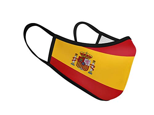 Mascarilla Higiénica de Tela Homologada Reutilizable Bandera de España Completa