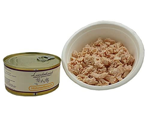 Lunderland-Dosenfleisch Hühnerfleisch 5 x 300g (insg. 1,5kg), 100 % Hühnerfleisch für Hunde und Katzen