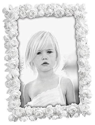 Mascagni Casa Cornice Portafoto Formato 20X25 Colore Bianco Fantasia Rose 480, Multicolore, 8003426023853