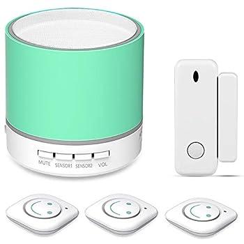 Toddler Door Alarm for Kids Safety Child Door Motion Sensor Kit Monitor for Infant Bedroom Safety Wireless Vibration Detector 14 ringtones 3 Levels Volume LED Indicator