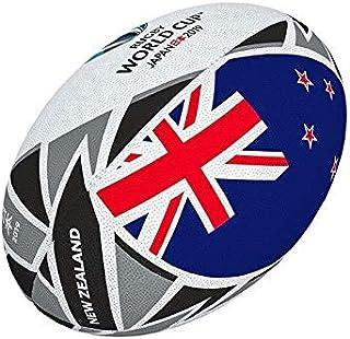 RWC2019ラグビーワールドカップ 2019 フラッグボール レプリカ ニュージーランド オールブラックス 5号球商品 ギルバート QC119