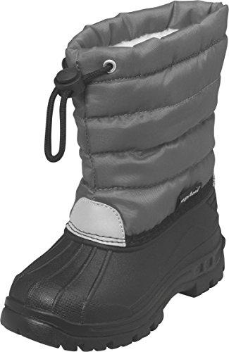 Playshoes gefütterte Kinder Winterstiefel, warme Schneestiefel mit Innenfutter , Grau (33 grau) , 20/21
