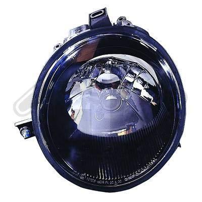 2208280, 1 paar koplampen, design zwart, voor Lupo van 1998 tot 2005