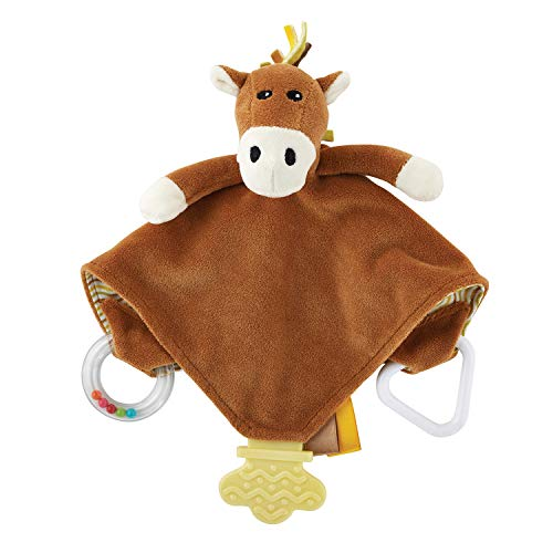 Stephan Baby Chewbie Activity Toy and Teething Blankie, Sparky The Horse