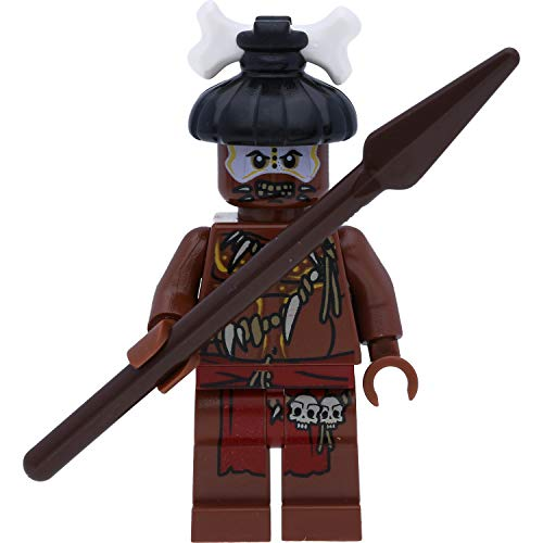 LEGO Pirates of The Caribe - Minifigura del Caribe Cannibal #2 con lanza