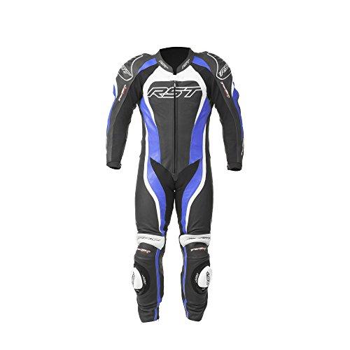 RST Traje de cuero para motociclista, color azul