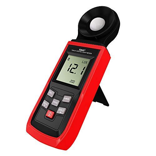 ROEAM Hand-Luxmeter Mini-LCD-Luminometer Digital-Photometer Luxmeter Lichtmesser-Illuminometer 0-100000 Lux mit Max/Min/Data Hold-Modus