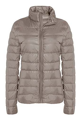 ZSHOW Damen leicht packable down jacket outwear puffer daunenjacke Light Camel Large