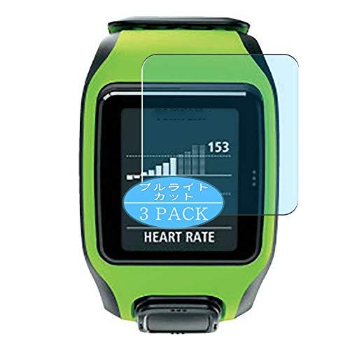 Vaxson 3 Stück Anti Blaulicht Schutzfolie, kompatibel mit TomTom Multisport Multi sport smartwatch Smart Watch, Displayschutzfolie Bildschirmschutz [nicht Panzerglas] Anti Blue Light