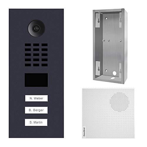 doorbird–Kit d2103V-ral7016+ a1061W + sup-d2102V-d2103V–Videoportero (IP 3sonnettes + Soporte + Timbre