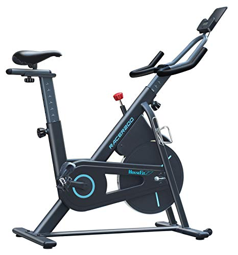 HouseFit Indoor Cycling Stationary Exercise Bike - Magnetic resistance control Solid Flywheel Quiet Belt Drive with iPad Mount LCD digital monitor