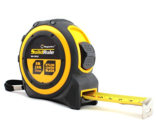 Tape Measure 26-Foot (8m) by Magnelex, Inches and Metric Measuring Tape for...