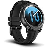 Ticwatch E2 Smartwatch, 5 ATM impermeabile, predisposto per il nuoto, GPS integrato, cardiofrequenzimetro, Google Assistant, musica, Google Wear OS Smart Watch, compatibile con iPhone e Android-nero