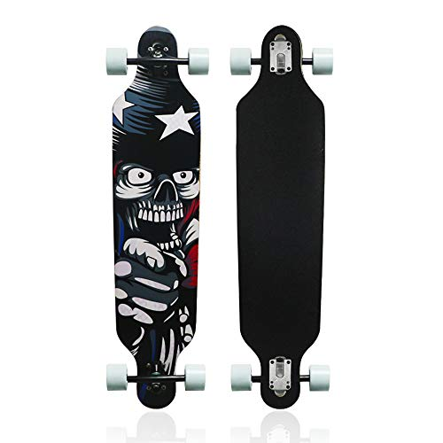 MammyGol 42 Inch Maple Longboard Skateboard Drop Through Complete Skateboard
