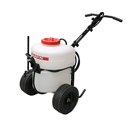 Chapin 97902 12 Gallon Battery Operated Push Sprayer, 12 gallons, Translucent White