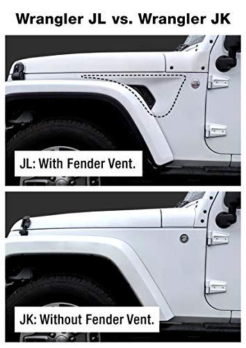 Tyger Auto TG-JA2J2239B Star Armor Kit for 2007-2018 Jeep Wrangler JK 4 Door (Exclude 2018 Wrangler JL Models) | Textured Black | Side Step | Nerf Bars | Running Boards