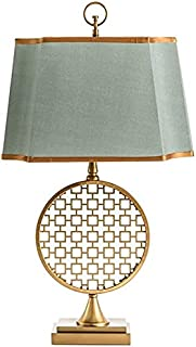 Lampe de Table Deluxe Classic Round Window Flower LED Gold Table Light Fashion Home Living Room Bedside Learning Hotel Clu...