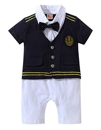 Qiribati Baby Jongens Katoen Baby-outfit Set Boog Tie Jumpsuit Pasgeboren Kleur Blok Baby Douche Romper om te leren lopen