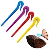 Gexolenu Elastic Rubber Hair Bands Remover Cutter,Pony Pick For Cutting Pony Rubber Hair Ties Pain Free Ponytail Remover Tool (4pcs)