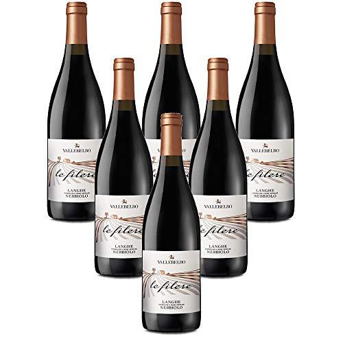 vino tinto italiano Langhe Nebbiolo DOC Le Filere vino rosso (6 botellas 75 cl.)