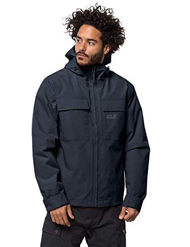 Jack Wolfskin Herren Winter RAIN Jacket M Wetterschutzjacke, Night Blue, XL