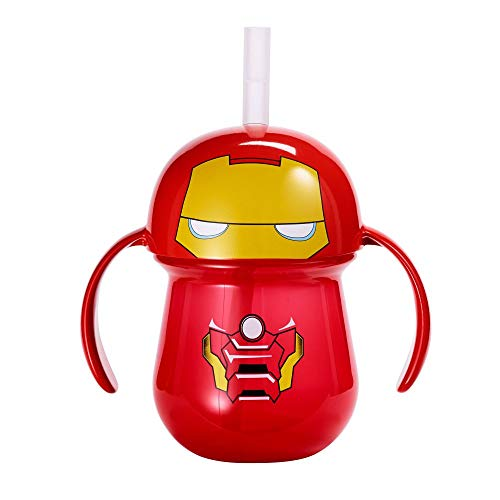The First Years Marvel Iron Man Toddler Straw Cup with Handles 7 Ounce