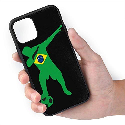 Jugador de fútbol brasileño Dabbing TPU + Materiales de PC respetuosos con el Medio Ambiente seleccionados Importados, Puede Evitar Que los Objetos Duros dejen rasguños adecuados para iPhone 11 Pro