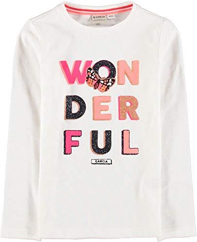 Garcia Kids Mädchen U04402 T-Shirt, Off White, 128/134