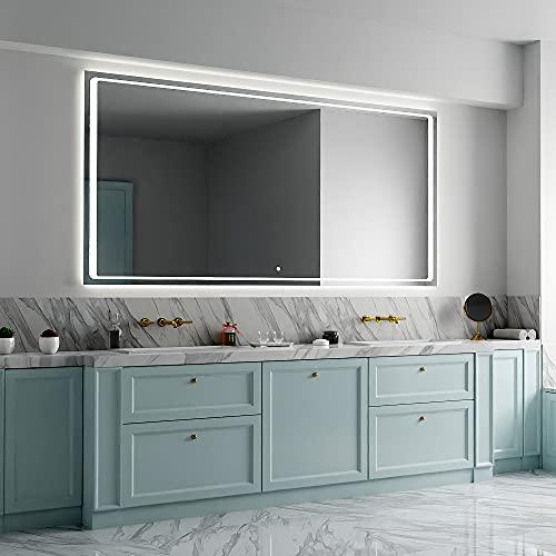 ARTTOR Espejo con Luz - Espejos De Baño - Decoracion Hogar - Espejos Decorativos - Muchos Tamaños - Pequeños y Grandes - Rectangulares y Cuadrados - M1ZD-49-50x80
