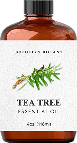 Brooklyn Botany Tea Tree Essential Oil – 100% Pure and Natural – Therapeutic Grade Essential Oil with Glass Dropper - Tea Tree Oil for Aromatherapy and Diffuser - 4 OZ