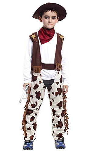 Cowboykostuum - kind - carnaval - halloween - origineel idee voor een verjaardagscadeau voor kerstmis - maat xl 130 140 cm cosplay