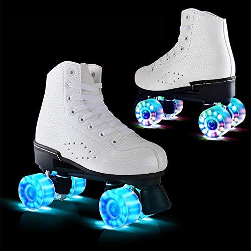 Pinkskattings@ Disco Roller, Classic Roller, Rollschuhe Für Kinder, Jugendliche Und Erwachsene Quad-Skates, Größen Von 35 Bis 44, Rollerskates,Weiß,37