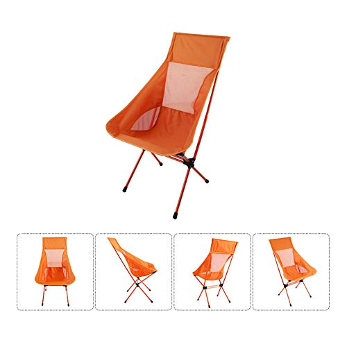 XYHWZY Portable Folding Camping Stools Mini Fold Up Collapsible Stool Outdoor Lightweight Compact Road Chairs for Hiking Fishing Travel Fishing,Orange