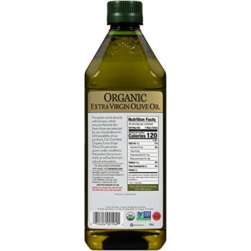 Pompeian Organic Extra Virgin Olive Oil - 24 Ounce