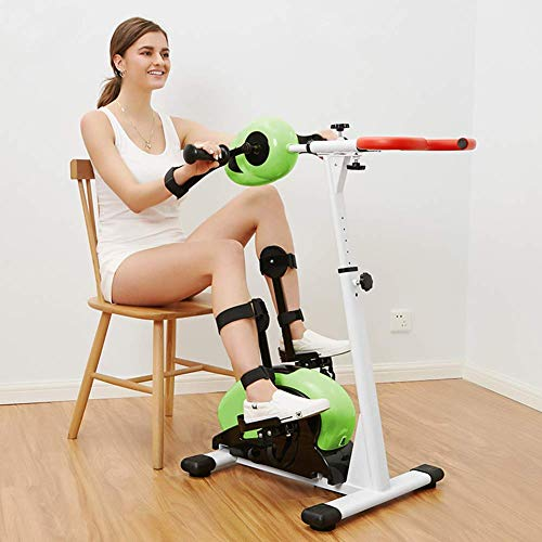 NMDCDH Pedal Exerciser Electronic Physical Therapy Rehabilitation Stationary Fitness Bike, Arm and Leg Exerciser Machine for Handicap Disabled Stroke Home Physiotherapy Fitness Exercise B