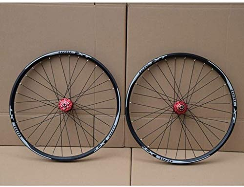 BZLLW Rueda de Bicicleta, Bicicleta de montaña de Ruedas 26/27,5 / 29Inch del Freno de Disco de la Rueda de la Bicicleta de Doble Pared de Llantas de Aluminio MTB QR 7-11Speed 32H Cerrados, provis